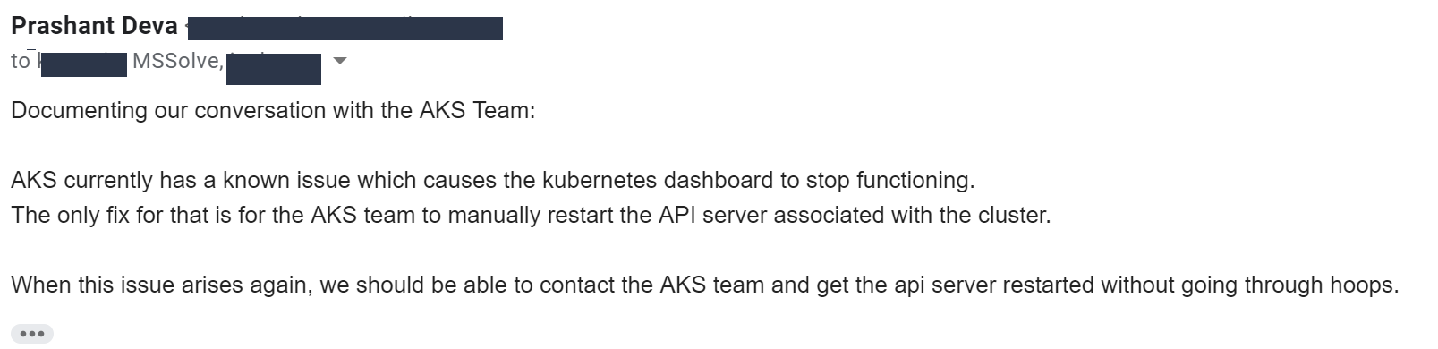 Horrors of using Azure Kubernetes Service in production